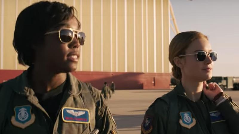 (L-R): Lashana Lynch and Brie Larson, Captain Marvel