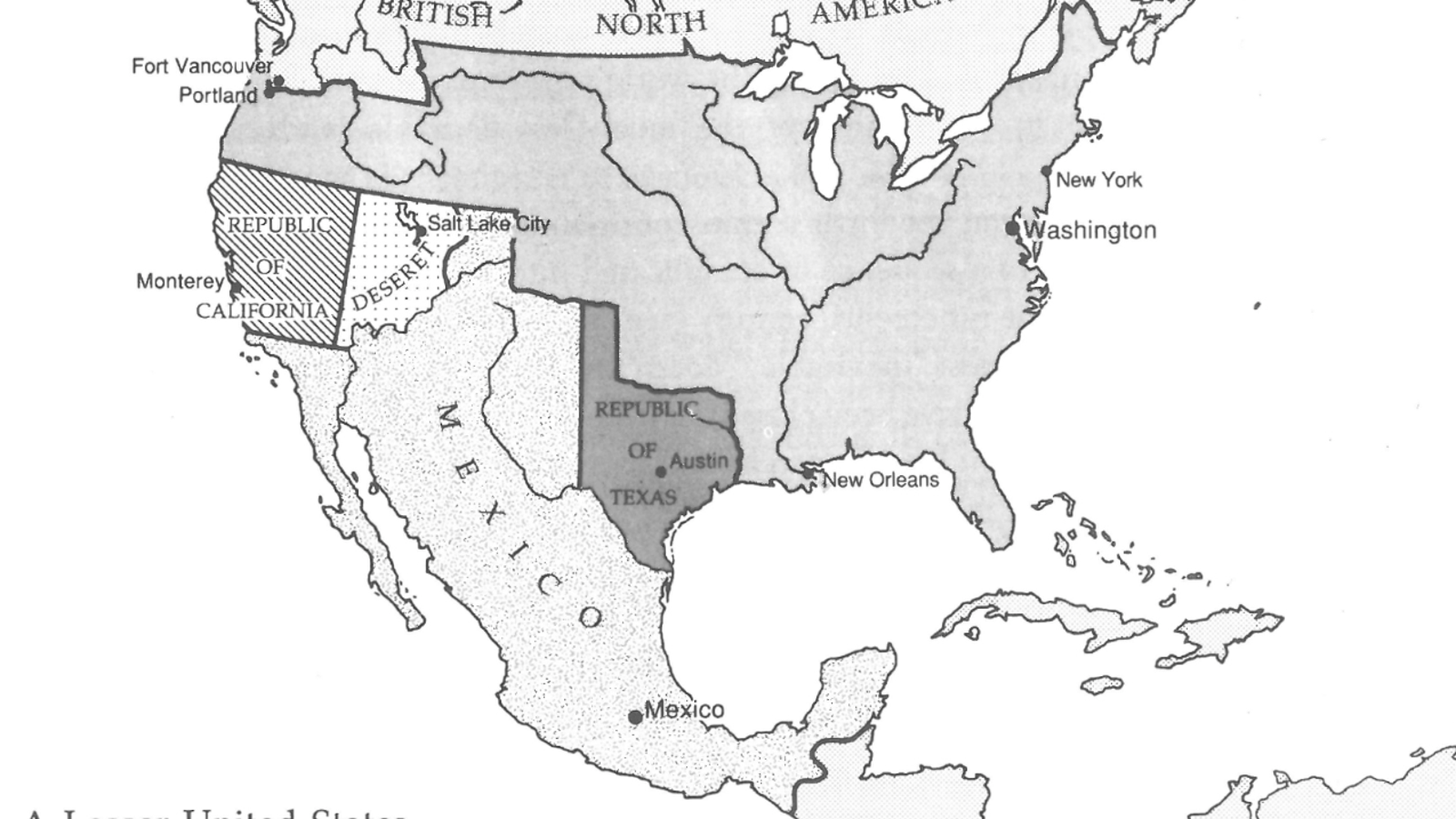 A Map Of The U.S., If There Had Never Been A Mexican-American War