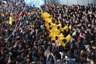 Illustration for article titled Huge Crowd at Pikachu Parade Causes Safety Concerns