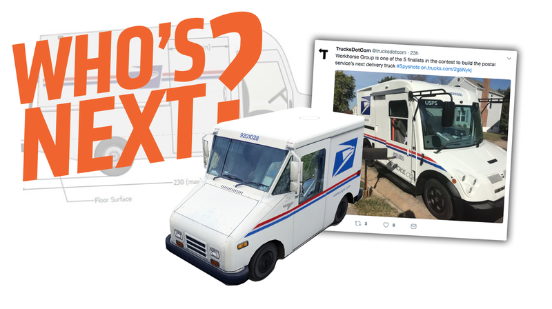 Illustration for article titled Here's The Secret New Electric U.S. Postal Service Truck