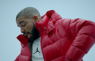 "Drake in the ""Hotline Bling"" videoYouTube screenshot"