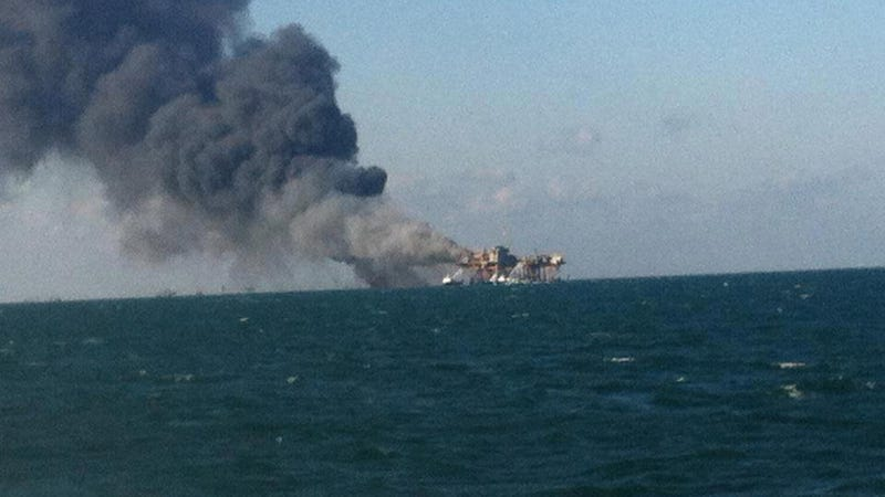 Illustration for article titled Oil Platform Explodes Off the Coast of Louisiana (Updating)