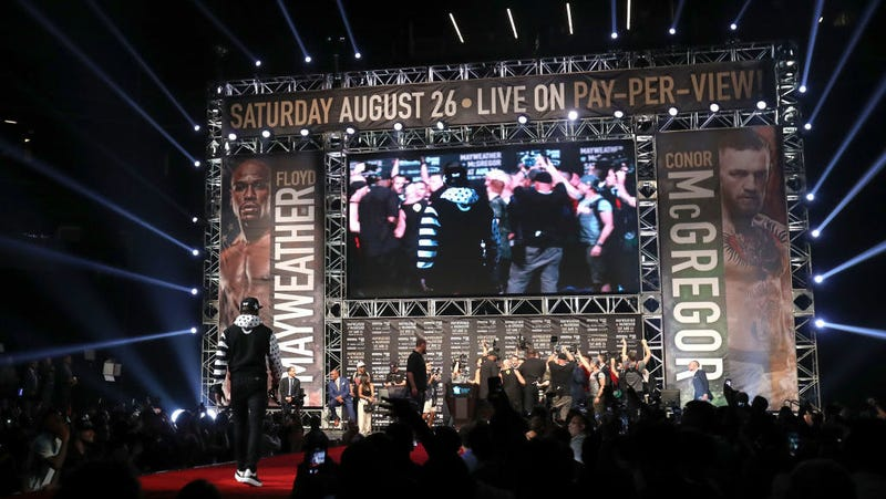 Mayweather vs McGregor to be shown live in movie theaters