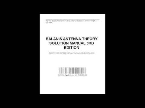 Antenna Theory Ebook