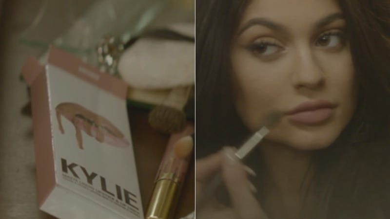 Illustration for article titled Kylie Jenner Appeared in a PARTYNEXTDOOR Music Video to Plug Her Lip Kit