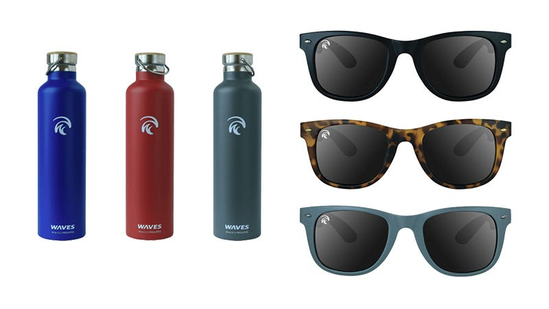 Illustration for article titled WavesGear Floating Sunglasses & Forever Cold Bottles: Buy One Get One Free