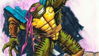 """Illustration for article titled A fourth '90s TMNT movie would've featured a """"badass"""" fifth turtle, KISS Shredder and April O'Neil's nipples"""