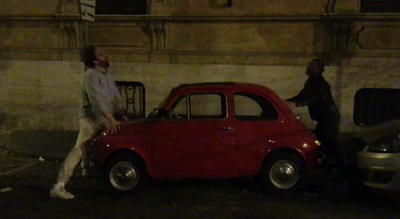 Illustration for article titled Street-Side Fiat 500 Makes Unfortunate Cameo In Aziz Ansari's Kanye West Music Video