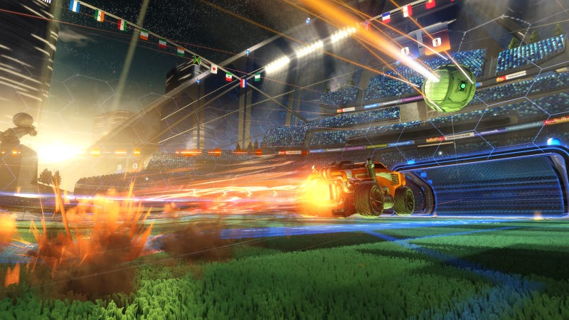 Illustration for article titled This Rocket League Save Doesn't Seem Possible