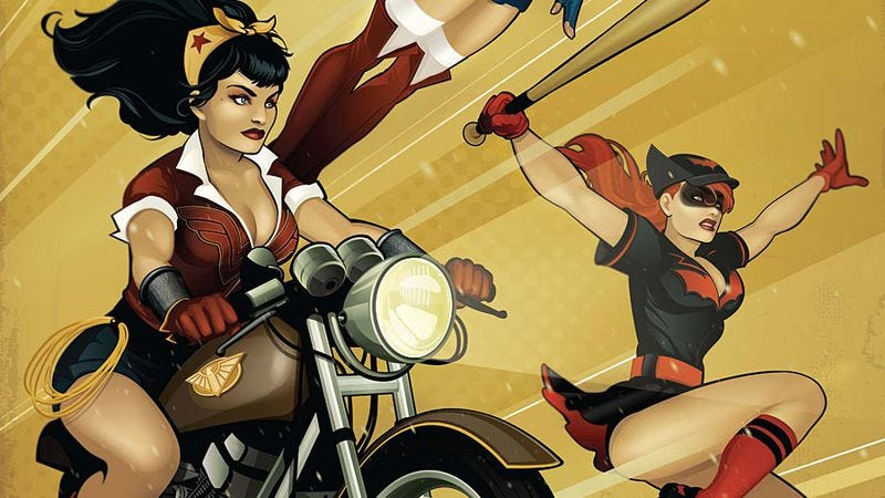 Illustration for article titled DC Bombshells builds a feminist story from pin-up superhero designs