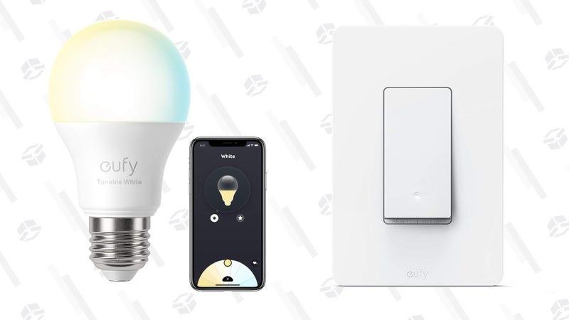 Eufy Smart Tunable Light Bulb 2.0 | $16 | AmazonEufy Smart Light Switch| $18 | Amazon
