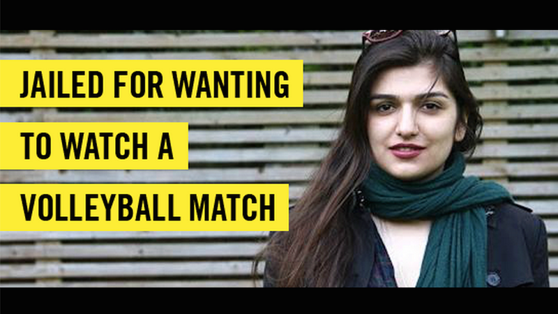 Illustration for article titled Iranian-British Woman Sentenced a Year For Attending Volleyball Game