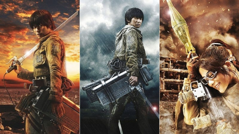 Illustration for article titled First Look At The Live-Action Attack On Titan Movie