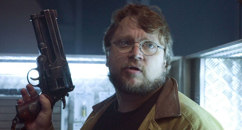 Guillermo del Toro on the set of Hellboy. Image: Sony Pictures