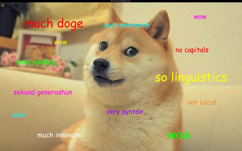Illustration for article titled Linguist explaining doge speak