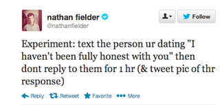 Illustration for article titled Nathan Fielder's Newest Text-Message Prank Is A Relationship-Killer