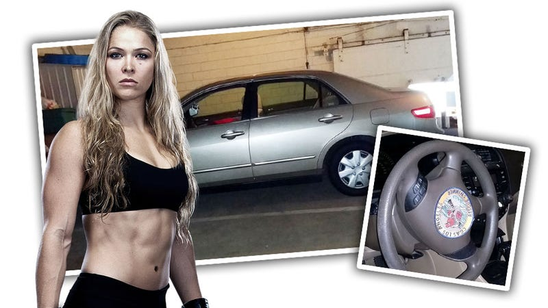 Illustration for article titled Ronda Rousey Will Sell You Her Honda Only If You Don't Jerk Off To It