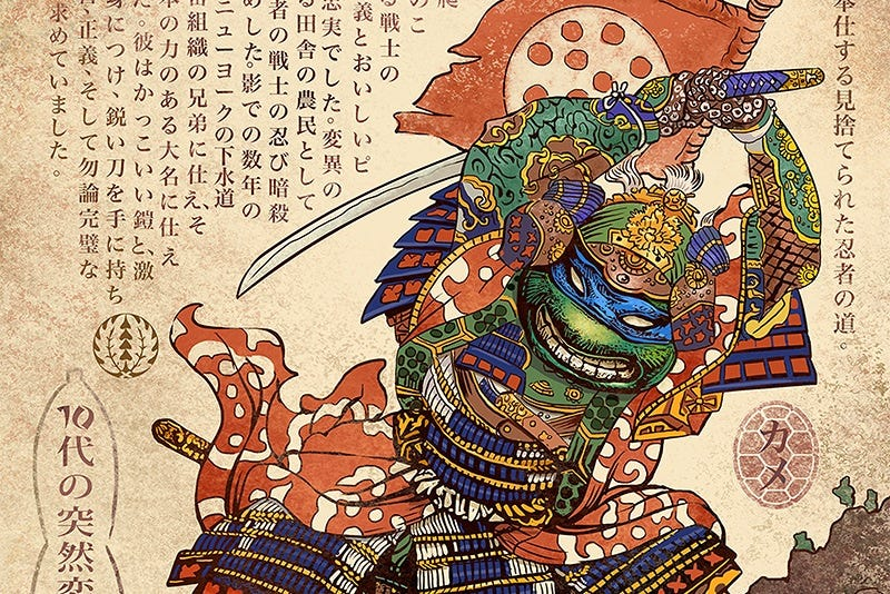 Illustration for article titled A Teenage Mutant Ninja Turtle Decides To Follow The Way Of The Samurai