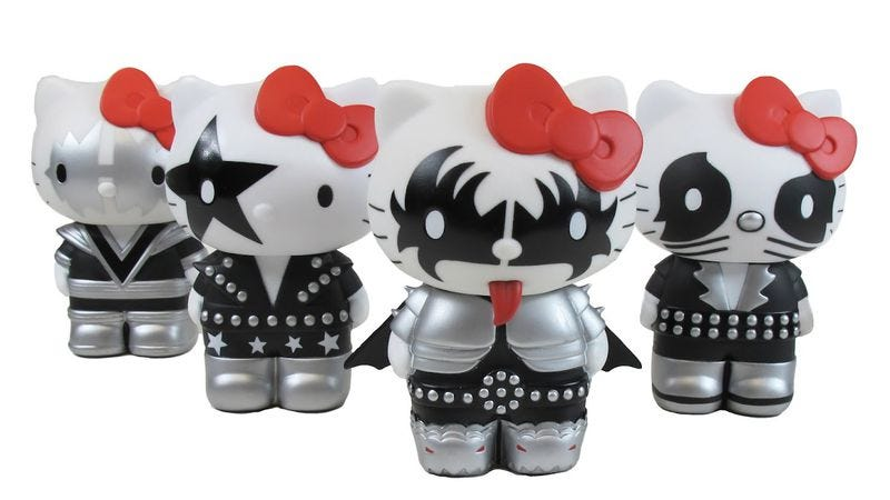 Illustration for article titled New show starring KISS-branded Hello Kitty characters to bring pervy come-ons and general assholery to kids