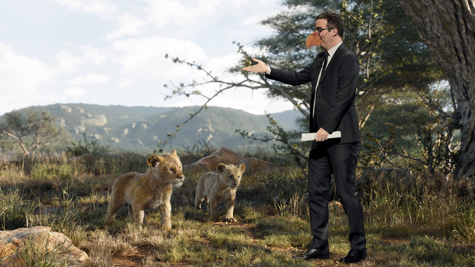 John Oliver Annoyed After Discovering He The Only Non-CGI Character In 'Lion King' Remake