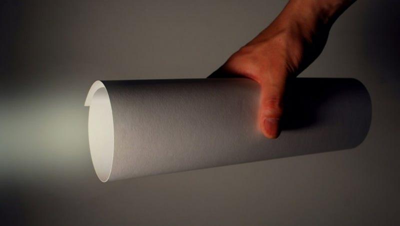 Una linterna con sólo una hoja de papel