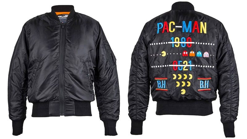 Illustration for article titled Pac-Man Bomber Jacket Will Remind People of All Those Ghost Battles You Fought