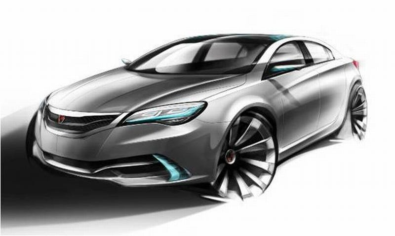 Illustration for article titled Roewe N1 Concept Sketches Preview Shanghai Debut