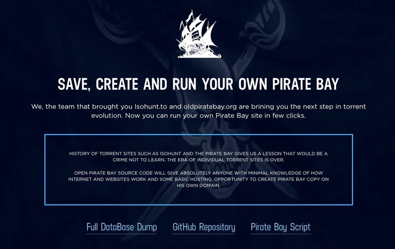 Illustration for article titled IsoHunt lanza una herramienta para crear clones de The Pirate Bay