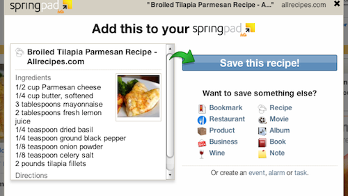 How to Organize Your Life with Springpad
