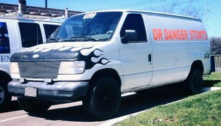 """Illustration for article titled """"Dr. Danger Stunts"""" Has An Awesome Van"""