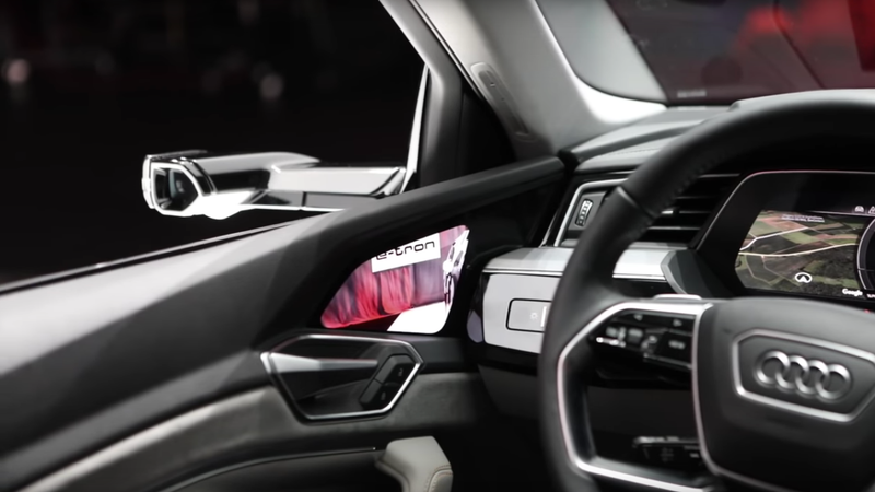 Illustration for article titled Audi's New Touchscreen Virtual Side Cameras Actually Seem Like A Good Idea