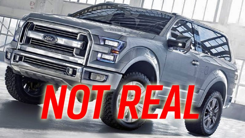Four Wheeler Thought Itd Be Hilarious To Photoshop The Ford Atlas Concept Into A Small SUV And Tell Everybody 2016 Bronco