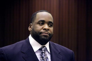Former Detroit Mayor Kwame Kilpatrick will be released next month. (Getty)