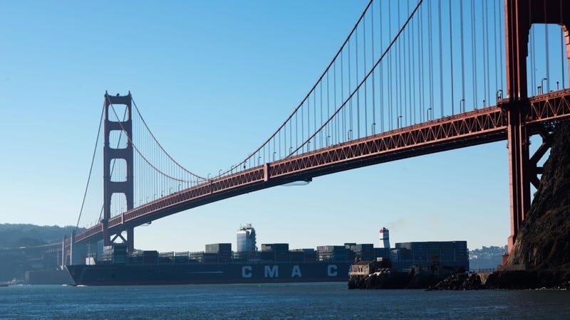 El Benjamin Franklin en San Francisco. Imagen: Puerto de Oakland / CMA CGM