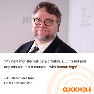 Illustration for article titled Guillermo del Toro said WHAT?!