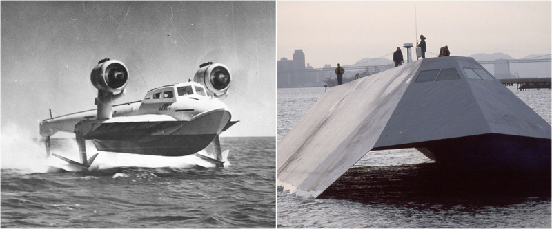 La increíble evolución en el tiempo de los barcos hidroala