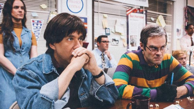Fred Armisen and Bill Hader in a scene from the season-two premiere of Documentary Now!