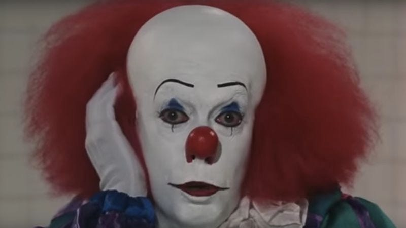 Tim Curry as Pennywise in the TV adaptation of It