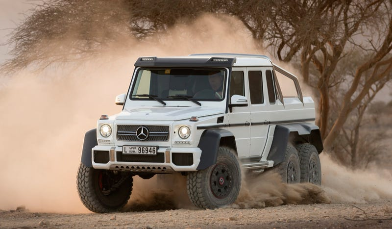 Illustration for article titled The Mercedes G63 6x6 Will Dominate Every Other SUV At The Mall