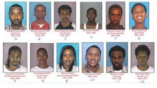 "Some of those indicted in the ""Somali Muslim gang"" sex trafficking operationWOSU screenshot"