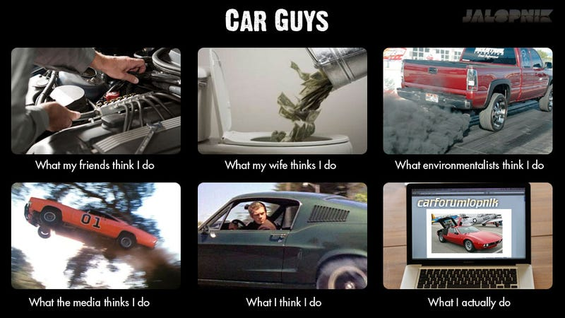 what people think car guys do