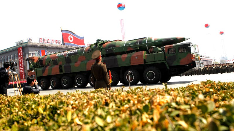 Illustration for article titled North Korea Shows Off Glorious New Weapons that Probably Won't Work