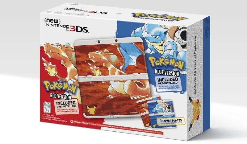 Illustration for article titled Las nuevas Nintendo 3DS celebran los 20 años de Pokémon reviviendo los clásicos Red y Blue