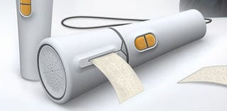 Illustration for article titled Embossing Braille Labelmaker Listens and Gives You Something to Touch