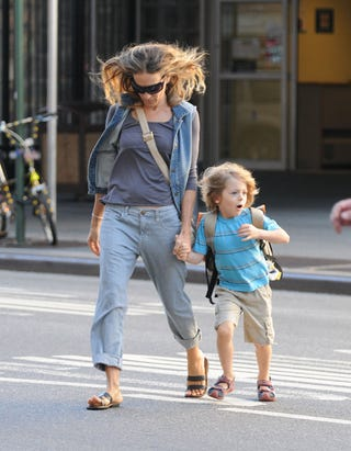 """Illustration for article titled Sarah Jessica Parker's Son: """"Mom, You Gotta Look Both Ways!"""""""