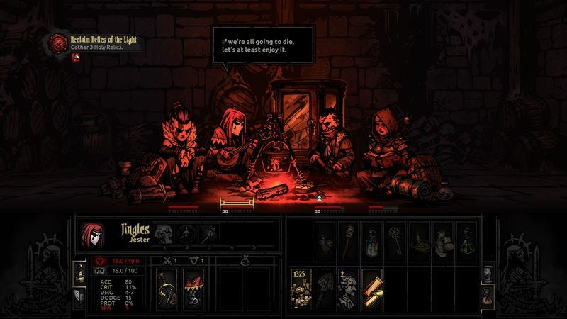 Illustration for article titled Darkest Dungeon considers the psychological toll of adventuring