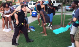 A pool party in McKinney, Texas, June 5, 2015, has the nation's attention after video showing a white police officer pulling his gun on several black teens at the party went viral.YouTube