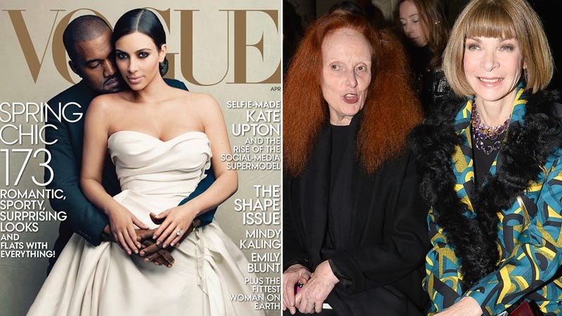 Illustration for article titled Anna Wintour Didn't Put Kimye on Vogue, Grace Coddington Did