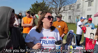 Video footage from a recent rally for GOP presidential candidate Donald TrumpYouTube Screenshot