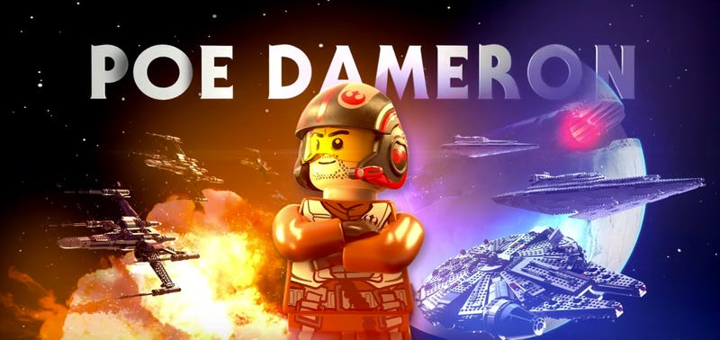 Illustration for article titled Just 30 Seconds of Lego Poe Dameron Will Brighten Even the Darkest Day